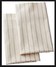 Ralph Lauren Francoise Dominique Set 2 King Sz Pillowcases Stripe Multi Color