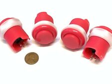 4 Piece Pink Arcade momentary PUSH BUTTON SWITCH DC N/O normally open on/off C16