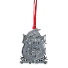 Police Officer Tribute Ornament (CO763) NEW