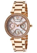 Michael Kors MK5616 Mini Parker Champagne Glitz Crystal Dial Steel Wrist Watch