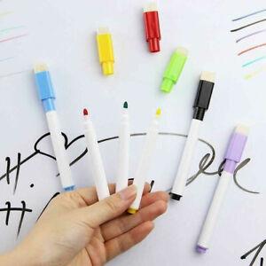 8/5/2/1 Magnetic White Board Colour Marker Pens Dry Eraser Easy Wipe=1 Pack Free
