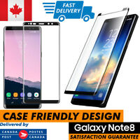 Case Friendly Samsung Galaxy Note 8 Full Cover Tempered Glass Screen Protector
