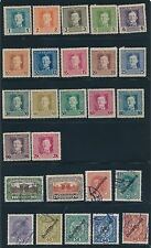 1917 - 1919 Austria VARIOUS ISSUES AS SHOWN, CAT VALUE $95