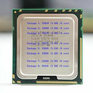 INTEI X5650 X5660 X5670 X5675 X5680 X5690 L5640 E5645 LGA1366 Server Processor