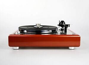 Restaurierter Thorens TD 165 Plattenspieler Designerstück copper red metallic