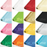 100ft Plastic Banquet Roll Party Catering Table Cover Cloth Tableware 19 COLOURS