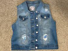 Jean vest-sleeveless-girls-siz e 14/16