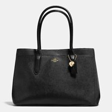 COACH Bailey Carryall Tote in Crossgrain Black Leather Gold Hardware, NWT!, $295