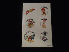 Disney's Ducktales Sticker Sheet Scrooge Huey Dewey Louie Webby Bubba Launchpad