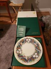 *Nib Lenox 1984 Colonial Christmas Wreath Plate Rhode Island The Fourth Colony*