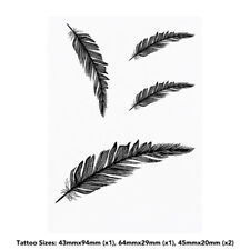 'Feather' Temporary Tattoos (TO009563)