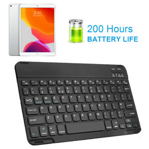 Wireless Bluetooth Keyboard For iPad Fits Air/Pro/Original QWERTY 200hr Battery