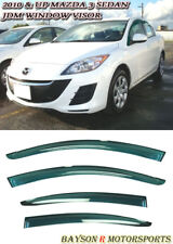 Window Rain Guard Visors (Tinted) Fits 10-13 Mazda 3 4dr