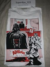 Adidas Retro Star Wars Comic Men T Shirt Rare Large Darth Vader Han Solo