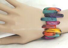 Rainbow, brought from Ecuador FairTrade,Organic,Handmad e,Zig Zag Tagua Bracelet,