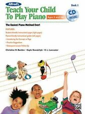 TEACH YOUR CHILD TO PLAY PIANO LEVEL 1 - PIANO METHOD BOOK/CD 40769
