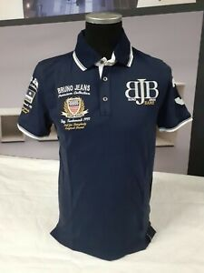 BRUNO BANANI   Herren Polo Shirt   Not For Everybody   BBP 9   navy-silber   L