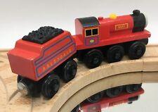 Thomas Wooden Railway Mike 2003 Vintage Train Set Red Engine Tender Car Wood Toy