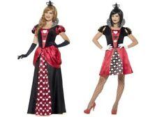 Queen Of Hearts Alice In Wonderland Ladies Costume Fairytale Fancy Dress