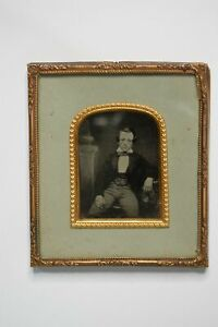 Ambrotype Of Young Man In A Fine Suit - Display Case