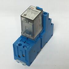 Finder 55.32.9.024.0040 24VDC Relay w/ 94.02 8 Pin Din Rail Socket 10A 250V