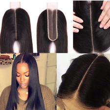 Brazilian 2x6 Lace Closure Straight 100% Remy Human Hair Middle Part Bleached