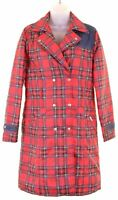 DOLCE & GABBANA JUNIOR Girls Double Breasted Coat 13-14 Years Red Check  NN03