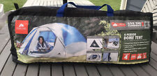 4 Person Camping Dome Tent Ozark Trail Storage Locker Rainfly Weather Tested
