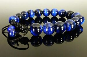 Shamballa Tigers Eye BLUE GEMSTONE Crystal Beaded BRACELETS 8mm,10mm