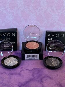 Avon Marbleized Baked Eye shadow-CHOOSE 1-Rose Gold-Midnight Frost-Starry night