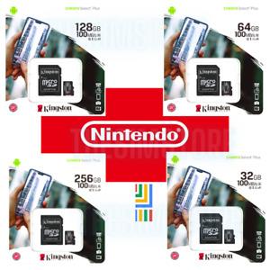 Kingston 32/64/128/256GB Micro SD Carte Mémoire Pour Nintendo Bouton / Lite