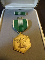 United States U.S. Military Merit Service Medal With Bars Ribbon & Box