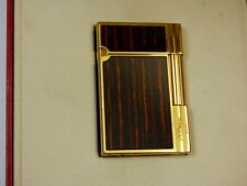 ST Dupont Gatsby Cigar Lighter - Ebony Lacquer - Gold Plated Trim-Boxed + Papers