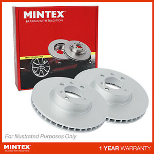 Fits Audi A4 B7 2.0 TDI 16V Genuine Mintex Front Coated Vented Brake Discs Set