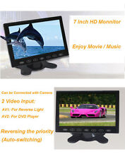 HD 7'' TFT LCD Ultra Thin 2-CH MP5 USB SD 2 Video Input Car Rearview Monitor