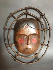 MASQUE ESQUIMAU ALUTIIK, YUP'IK, ALASKA, objet du GRAND NORD, ARCTIQUE Inuit