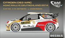 DECALS 1/43 CITROËN DS3 WRC #4 - OSTBERG - RALLYE ADAC 2014 - MF-ZONE D43343