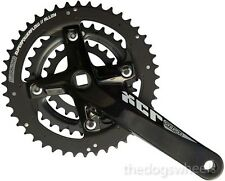 Suntour XCR MTB Triple Chainring Chainset Crankset Bicycle Bike 9sp 22/32/44T Bk