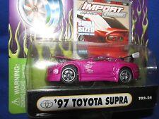 97 TOYOTA SUPRA muscle machine Import tuner 1/64 magenta  furious street race