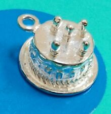 Charm X13 Birthday Cake Sterling Silver Vintage Bracelet