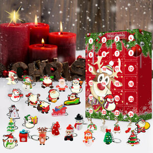 Christmas Advent Calendar With 24 Drawers To Add Your Own Gifts Treats to Kids