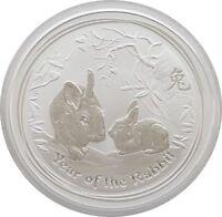 2011-P Australia Perth Mint Series II Lunar Rabbit $2 Two Dollar Silver 2oz Coin