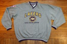LA Lakers Vintage Lee Crewneck Sweatshirt Mens Large NBA Basketball Kobe Shaq 90