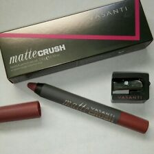 VASANTI Matte Crush Lipstick Pencil in It's Your Mauve Full Size w Sharpener NIB