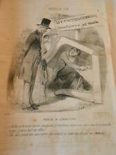 Caricature 1849 - Lit Fauteuil Commode Prodige de l'ébénisterie