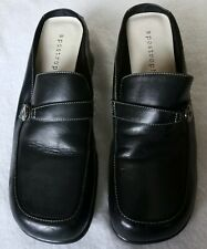 Apostrophe Women's Mule Square Toe black Casual Shoes Size 8 1/2 Medium  buckled