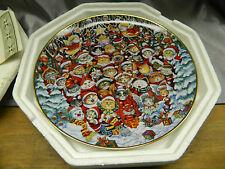 Franklin Mint Santa Claws Bill Bell Collector Plate Cat Kitten Claus Christmas