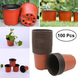 100 Pcs Plant Pots Small Plastic Flower Pot Cactus Tiny High Quality 9*6*8cm