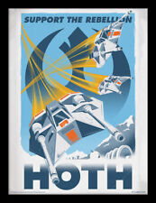 Star Wars Hoth Framed 30 x 40 Official Print