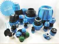 Raccordo tubo polietilene 20 Raccordi a compressione irrigazione acqua gomito